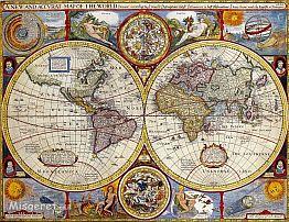 מפת עולם עתיקה