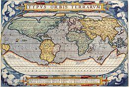 מפה ישנה של העולם