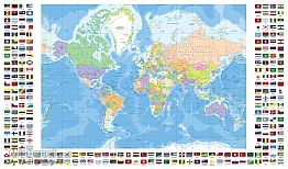 מפה עם דגלים Flags Wor