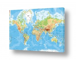 ירוק ירוק | מפה של העולם פיזית