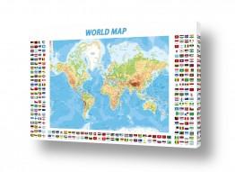 תמונות לפי נושאים מפה | World Map with flags