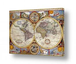 תמונות לפי נושאים מפה | מפת עולם עתיקה