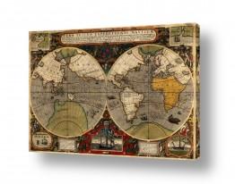 תמונות לפי נושאים מפה | Antique World Map