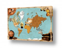 תמונות לפי נושאים מפה | Pirates map