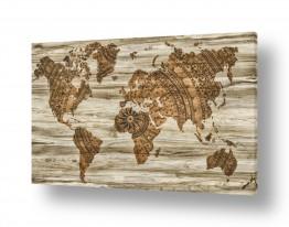 אמנים מפורסמים מפות העולם | מפת עולם מעוצבת ענתיק