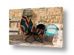 צילומים מבנים וביניינים | כסא צבעוני בנמל יפו