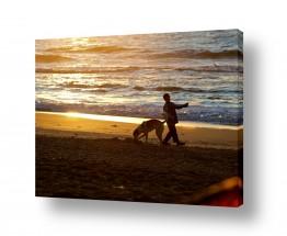 צילומים חופים וים | משחקים בשקיעה