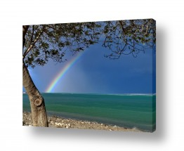 צילומים מזג-אוויר | קשת בים המלח