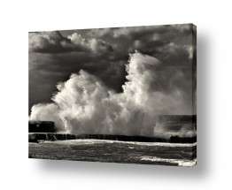 תמונות לפי נושאים קצף | סערה בנמל