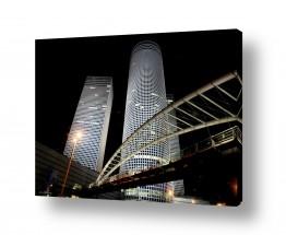צילומים עירוני | לילה במגדלי עזריאלי
