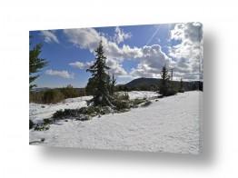 צילומים מזג-אוויר | שלג עד לאופק