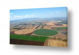 תמונות לפי נושאים צילום אוויר | שניים עיגולים בשדה