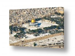 תמונות לפי נושאים צילום אוויר | ירושליים של זהב ושלג 02