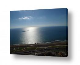 תמונות לפי נושאים צילום אוויר | שקיעה בחיפה