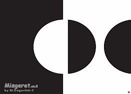 עיגול שחור לבן