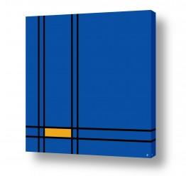 ציורים אבסטרקט | כחול צהוב