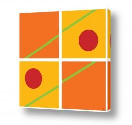 צבעים פופולארים צבע כתום | דגם ריבוע 1