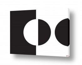 ציורים אתי דגוביץ' | עיגול שחור לבן