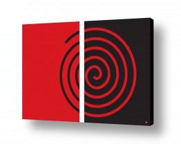 ציורים אמנות דיגיטלית | שבלול אדום שחור