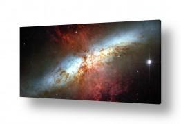 ציורים מדע בדיוני | Starburst Galaxy - חלל