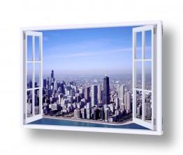 אמריקה ניו יורק   ניו יורק בחלון