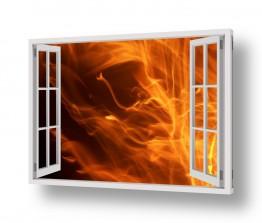 תמונות לפי נושאים אש | אש מהחלון