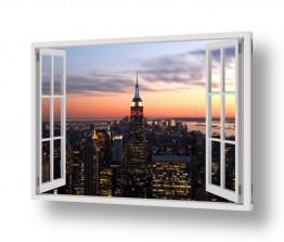 נוף עירוני בנינים | ניו יורק בחלון