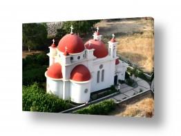 תמונות לפי נושאים צילום אוויר   מנזר השליחים  Capernaum