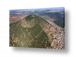 תמונות לפי נושאים צילום אוויר   הר תבור  mount Tabor