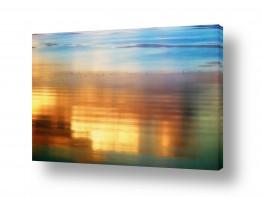 תמונות נופים נוף שקיעות | Orange SeaOfGalilee