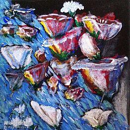אבסקרקט פרחים