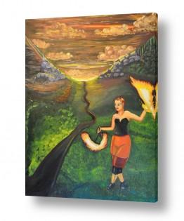 ציורים ציורים אנרגטיים | ג'אגלרית
