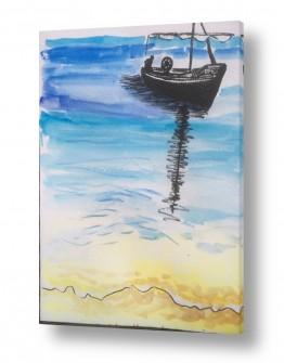 תמונות לחדרי המתנה | סירה בים