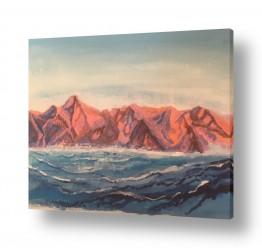 ציורים מים | הרים וים