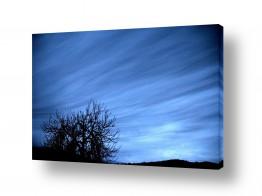 צילומים אייל הצפון   שקיעה בכחול