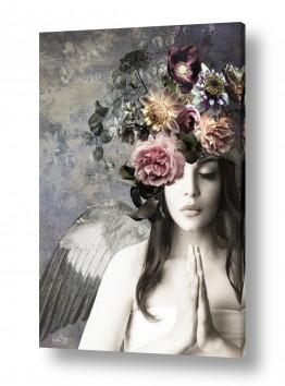 ציורים אנשים ודמויות | מלאכית הפרחים