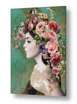 ציורים אנשים ודמויות | לדבר בפרחים