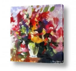 ציורים טבע דומם | ציורי פרחים - והרבה