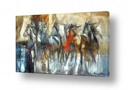 ציורים בעלי חיים | מירוץ סוסים