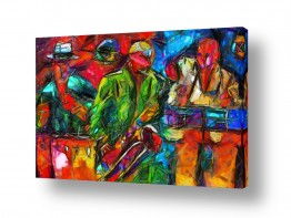ציורים אנשים ודמויות | Jazz ג'אז