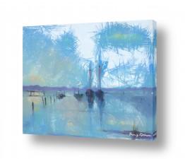 ציורים מים | שקט במרינה