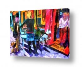ציורים אנשים ודמויות | רחוב שנקין-תל אביב