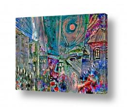 ציורים עירוני וכפרי | לילה בעיר
