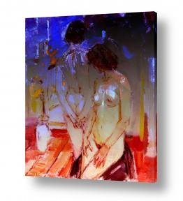 ציורים ציור בצבעי מים | 2 נשים