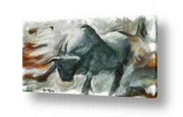 ציורים בעלי חיים | השור הזועם