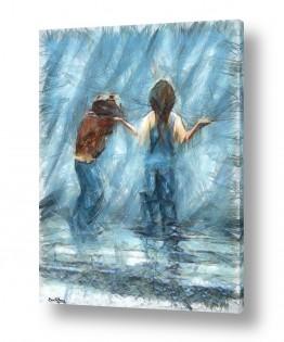 ציורים מים | משתעשעים במזרקה
