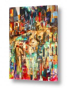 ציורים אנשים ודמויות | משתלבת בעיר