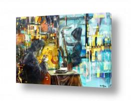 ציורים עירוני וכפרי | קולאז