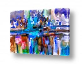 אמנים מפורסמים ציורים שנמכרו | מופשט עם גווני כחול