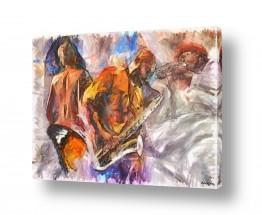 ציורים אנשים ודמויות | מוסיקה רומנטית